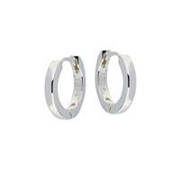 Zilveren klapcreolen - vierkante buis 2 mm 107.0072.14