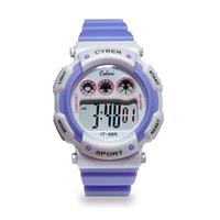 Colori Kinderhorloge Cyber Sport siliconen/digitaal paars-wit 36 mm 5-CLK088