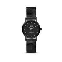 CO88 Collection 8CW-10064 - Horloge - mesh band - zwart - ø 24 mm
