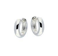 Best Basics Zilveren klapcreolen - ronde buis 4 mm 107.0068.14