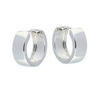 Best Basics Zilveren klapcreolen - vierkante buis 6 mm 107.0075.14