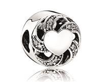 Pandora Bedel zilver ´Heart' 791976CZ