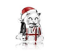 Pandora Bedel 'Kerst-kat' 792007EN39