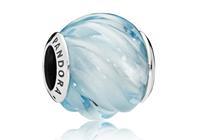 Pandora Bedel zilver Blue Ripples 797098NAB