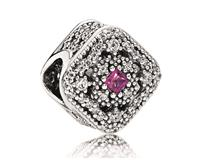 Pandora Bedel zilver ´Abstract Cerise Crystal' 792013NCC