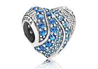 Pandora Bedel zilver Aqua Heart 797015NABMX