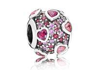 Pandora Bedel zilver Explosion of Love 796555CZSMX