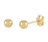 Gold Collection Glow 206.2020.04 Oorbellen Bolletjes geelgoud glad 4 mm