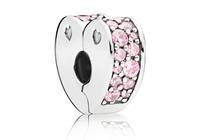 Pandora Clip-Stopper Bedel zilver Pink Arcs of Love 797020PCZ