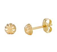 Gold Collection Glow 206.0460.04 Gouden Oorbellen 4.0 mm Gediamanteerd