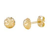 Gold Collection 14 Krt Gouden Oorbellen 5.0 mm Gediamanteerd 206.0460.05