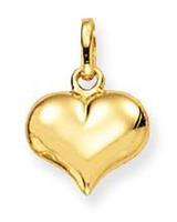Glow 230.0005.00 Gouden Hanger/Bedel Hart 8 x 10 mm