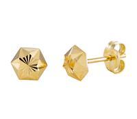 Gold Collection 14 Krt Gouden Oorbellen 5.0 mm Gediamanteerd 206.0461.05