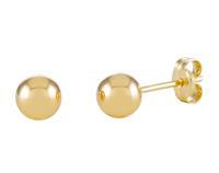 Glow 206.2020.05 Gouden Oorbellen Bolletjes Glad 5 mm