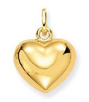 Glow Gouden Hanger/Bedel hart 8 x 10 mm 230.0002.00