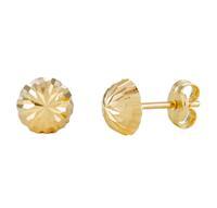 Gold Collection 14 Krt Gouden Oorbellen 6.0 mm Gediamanteerd 206.0460.06