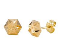 Gold Collection 14 Krt Gouden Oorbellen 6.0 mm Gediamanteerd 206.0461.06
