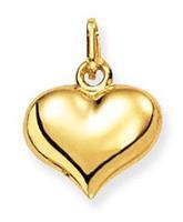Glow 230.0006.00 Gouden Hanger/Bedel Hart 11 x 13 mm
