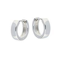 Best Basics Zilveren klapcreolen - vierkante buis 4 mm 107.0074.14