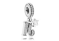 Pandora Hangbedel zilver 16 Years of Love 797261CZ