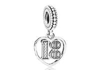 Pandora Hangbedel zilver 18 Years of Love 797262CZ