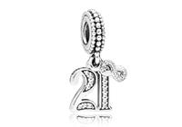 Pandora Hangbedel zilver 21 Years of Love 797263CZ