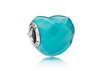 Pandora Bedel zilver Blue Shape of Love 796563NSC