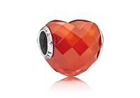 Pandora Bedel zilver Orange Shape of Love 796563OCZ