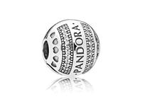 Pandora Clip-Stopper bedel zilver Hearts Logo 797433CZ