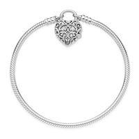 Pandora 597602 Armband zilver Smooth Padlock 17 cm