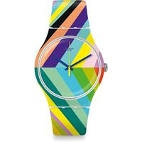 Swatch Think Fun Psycadelic Unisexuhr in Mehrfarbig SUOW155