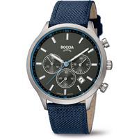 Boccia 3750-02 Horloge chronograaf titanium-nylon 43 mm