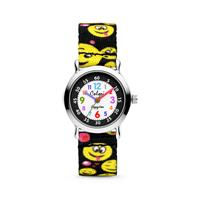 Colori Kidz 5 CLK106 Kinderhorloge met Smiley Emoticons - Kunststof Band - Ø 27 mm - Zwart / Multikleur