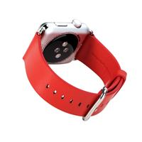 Apple Watch Sport 42mm Echt Leren Band Rood
