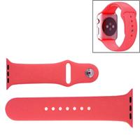 For Apple Watch Sport 42mm High-performance Rubber Sport Watchband with Pin-and-tuck Closure(Pink)
