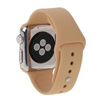 For Apple Watch Sport 38mm High-performance Rubber Sport Watchband with Pin-and-tuck Closure(Khaki)