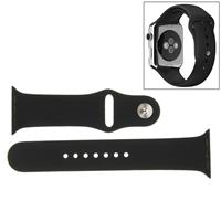 For Apple Watch Sport 38mm High-performance Rubber Sport Watchband with Pin-and-tuck Closure(Black)