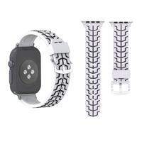 Voor Apple Watch Series 3 & 2 & 1 42mm Fashion Fishbone patroon siliconen Watch Strapwit