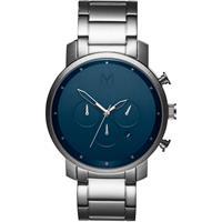 MVMT D-MC01-SBLU Horloge Chrono Midnight Silver 45 mm