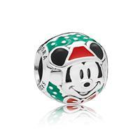 Pandora 797502ENMX Disney Bedel zilver Santa Mickey