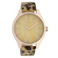 Oozoo C9792 Horloge Leopard Black-Warm White