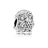 pandora Mother Owl and Baby Owl Bedel, Sieraden uit Sterling zilver, No stone,