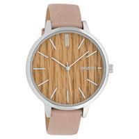 Oozoo C9746 Horloge Soft Pink Maple 42 mm