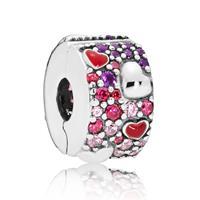 Pandora 797838CZRMX Clip-Stopper Bedel zilver Hearts of Love