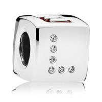 Pandora 797811CZR Bedel zilver Dice and Love