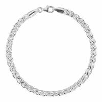 First Choice FirstChoice PAL04 Armband zilver Palmier 4,0 mm breed 11 gram 20 cm