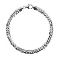 First Choice FirstChoice VIT55 Armband zilver Vittoria 5,5 mm breed 13,1 gram 20 cm
