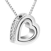 Van Amstel Ketting Heart In Heart - Swarovski Elements