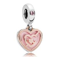 Pandora Rose 787801NBP Hangbedel zilver-rosékleurig Path to Love