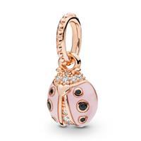 Pandora Rose 387909EN160 Hanger zilver Lucky Pink Ladybird rosekleurig